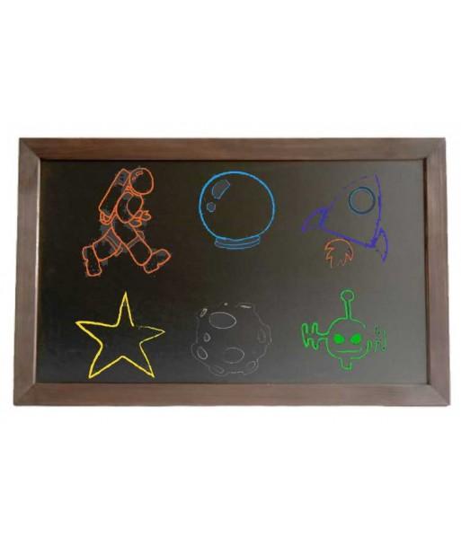 Edukacyjna tablica kredowa 50 x 70 cm dla dziecka eco
