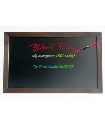 Tablica kredowa reklamowa 100x200 cm drewniana rama potykacz