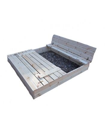 Piaskownica ogrodowa ławeczki zakrywana bezpieczna 150 x 150