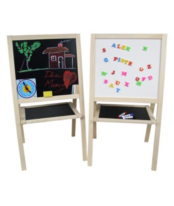 Tablica edukacyjna dla dzieci kredowo magnetyczna dwustronna