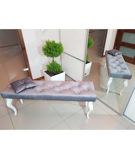 Ławka ławeczka pikowana Pufa GLAMOUR 40x100 cm + GRATIS