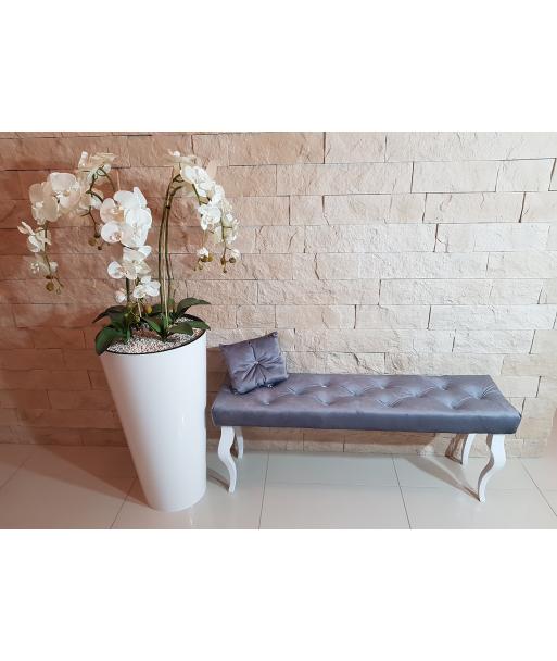 Ławka ławeczka pikowana Pufa GLAMOUR 40x120 cm + GRATIS