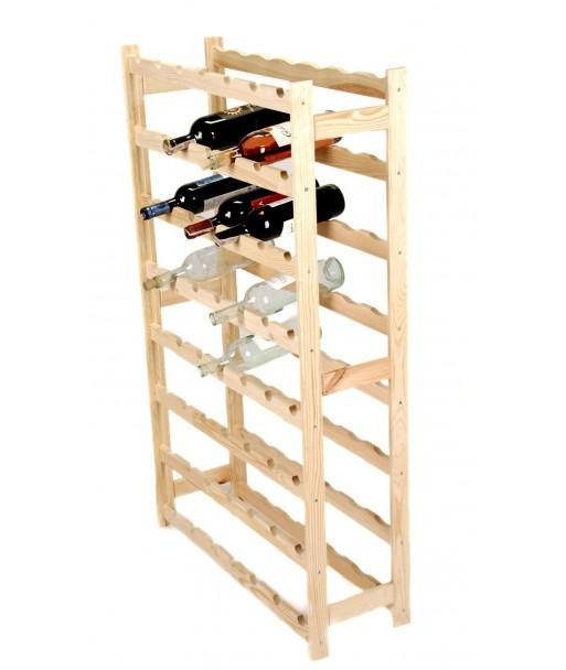 Regał stojak na wino drewniany na 56 butelek 120 cm