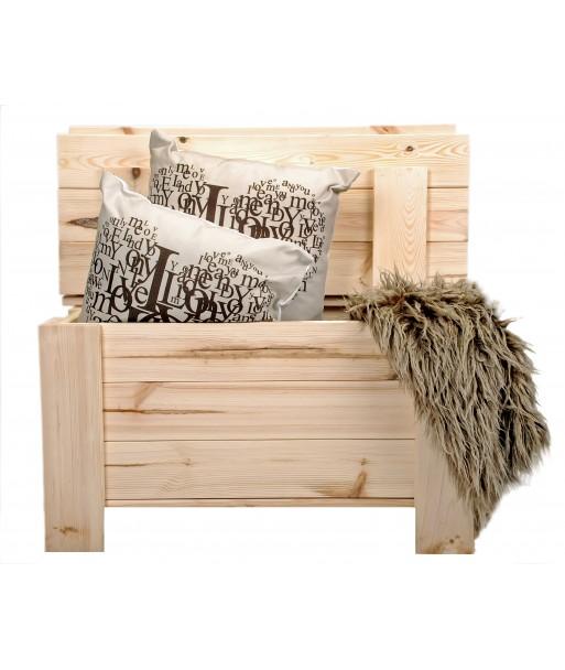 Ławka drewniana skrzynia  kufer schowek