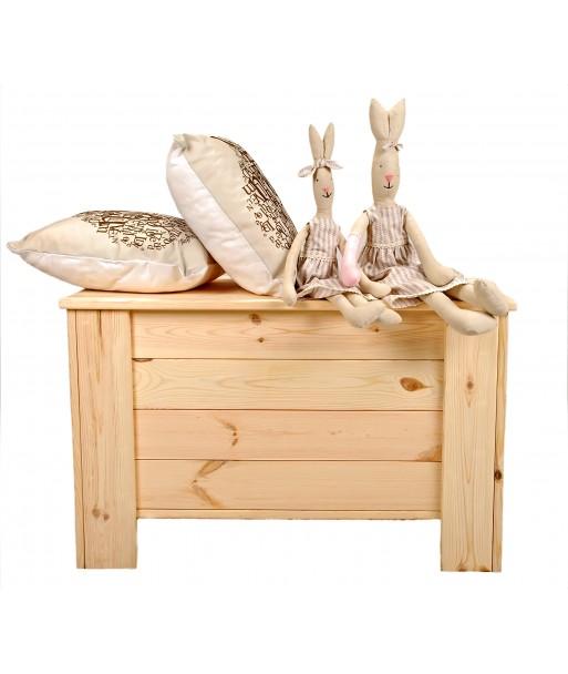 Skrzynia drewniana pojemnik kufer sosna